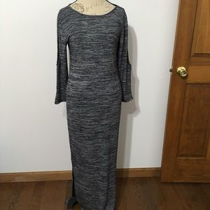 NWT Philosophy Cold Shoulder Space Dye Maxi Dress